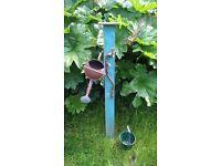 garden vintage brass tap post hanger bucket for garden decoration