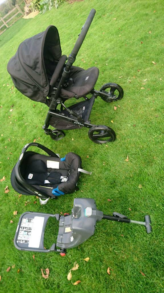 Britax Roamer Push Chair Car Seat Travel System Black Thunder Isofix