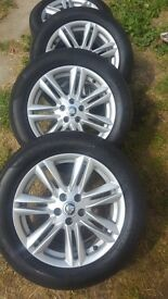 17inch alloy wheels and tyres. Genuine jaguar. X4