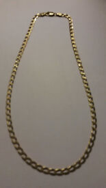 gold curb chain 9ct 18 inch 8.4g