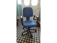 Blue fully adjustable office Chair (and Ikea desk if wanted)
