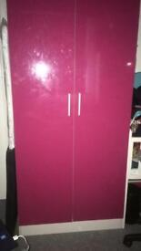 All matching pink set, Wardrobe,draws and bedside cabinets