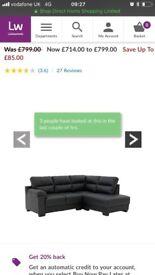 right hand side corner sofa