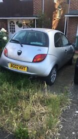 Ford KA 1.3, 80,500 Miles. Needs HT leads, new exhaust and an MOT