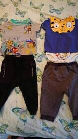 Julian mcdonald tshirt and tshirt bodysuit, next joggers 6-9 months