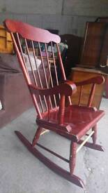 wooden rocking chair - Delivery Available