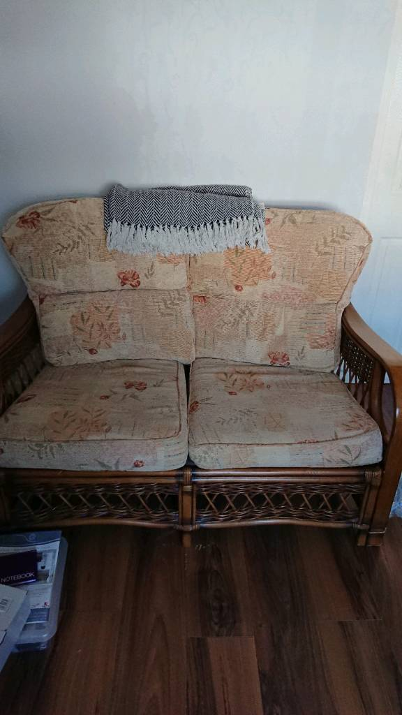 cane 2 seater sofa free in coventry west midlands gumtree. Black Bedroom Furniture Sets. Home Design Ideas