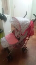 Obaby stroller with accessories