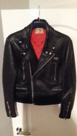 lewis leathers vintage motorcycle jacket size 34