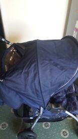 Bargain. ONLY for £59 Mother care Navy Pram in excellent condition. Almost new. Limited use.