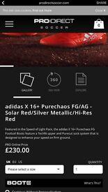 Adidas Purechaos FG/AG. Size 7