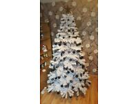 Brand new 7ft white tree with blue leds