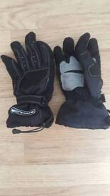 Thick motorbike gloves