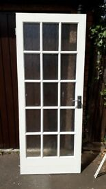 4 solid wood white doors