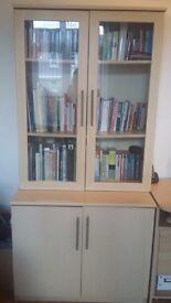 Birch storage unit and desk
