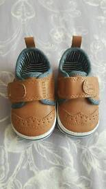 Beautiful Baby Boy Next Shoes Size 0-3 Months