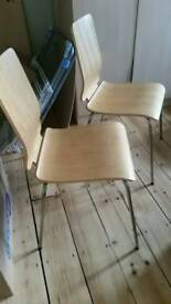 Two Gilbert (Ikea) chairs