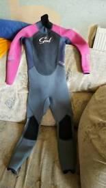 Gul girls wet suit Age 8-10