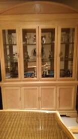 Light wood sideboard / display cabinet