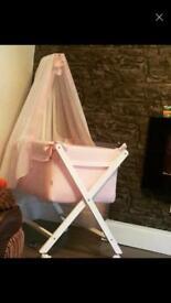 Beautiful baby girl crib