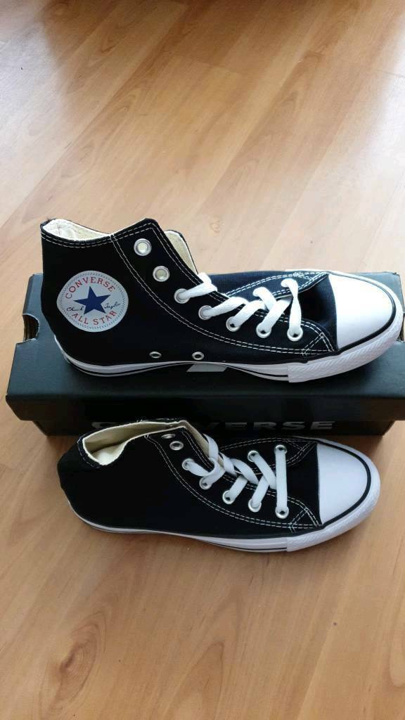 c729f7f7bccf Brand New Black Converse Chuck Taylor High Tops Size 5 In Box