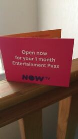 Now TV 1 month Entertainment Subscription Code