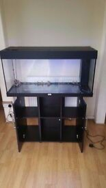 Juwel rio 180 litre fish tank and stand in black with free delivery