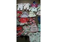 Bundle baby girls clothes size 0-3mths