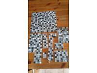 Mosaic tiles - black and stone