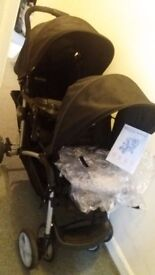 Double Pushchair Graco Stadium Duo with Raincover