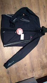 mens Concurve windstopper Gore softshell black cycling jacket small medium