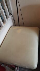 White leather giant foot stool/2nd seat
