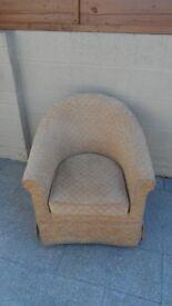 Fabric tube chair