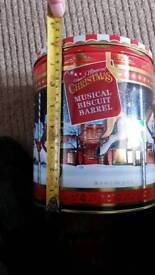Musical biscuit tin