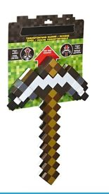 Mine craft 2 in 1 axe sword