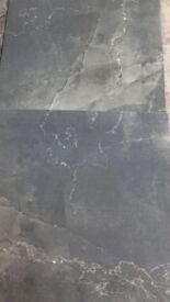 Porcelain tile grey marble shiny affect 300 plus yards