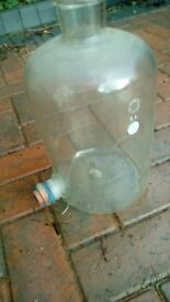 Glass 5 litre demi-john with rubber bung