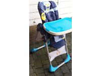 Chicco polly double phase high chair with detachable tray