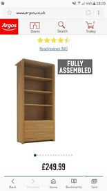 2 drawer oak bookcase