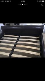 brown king-size bed