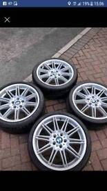 Bmw Genuine MV4 19inch alloy wheels with tyres