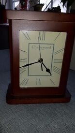 Clock with brown surround