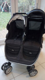 Britax B Agile Double Pushchair, well used but good condition - all fabric machine washed