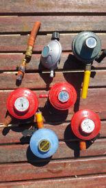 6 x GAS Bottle Regulators