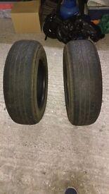 Part worn tyres. 5mm tread bridgestone 195/65/R15