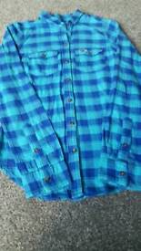 CLOTHES HOLLESTER SHIRT CHECKED SIZE XS