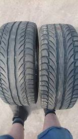 Pair 195/50/15 part worn tyres