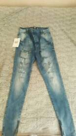 Sik silk ripped jeans