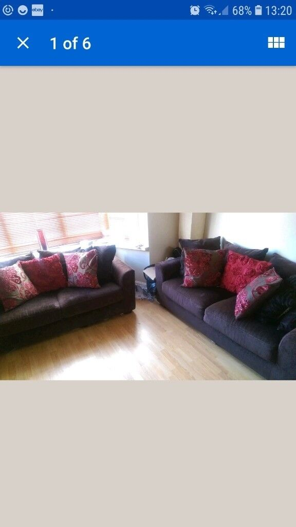 Pair Of Sofas With Cushuons Very Good Condition In Oldham Manchester Gumtree