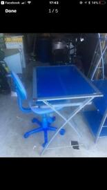 QUICK SALE £25 .... Desk, Chair and Unit
